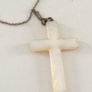 Jewelry - Vintage mother of pearl cross